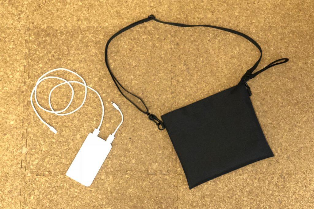 モバイルバッテリー&サコッシュ