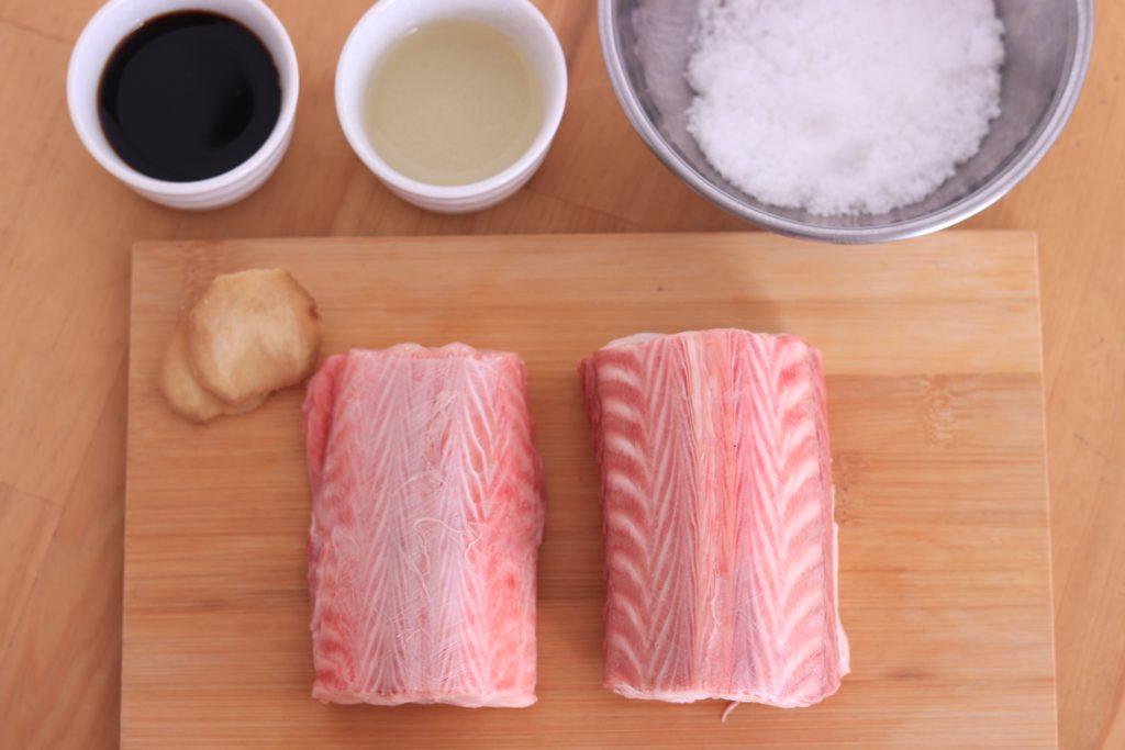 ムキサメの煮付けの材料